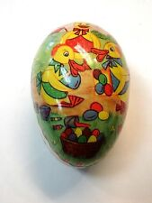 "Vintage Eastern Germany Democratic Republic Papier Mache Easter Egg 3"" long"
