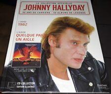 JOHNNY HALLYDAY RARE LIVRE CD DE LA COLLECTION OFFICIELLE QUELQUE PART UN AIGLE