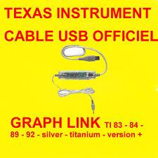 ★★ CABLE USB TEXAS INSTRUMENT OFFICIEL CALCULATRICE TI 83+ 84 89 SILVER PLUS ★★