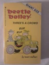 5 unancient Tor-era Beetle Bailey paperbacks by Mort Walker (1986-87)