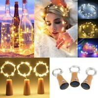 LED Solar Fairy String Lights Wine Bottle Copper Cork Wire Lamp Party Decor AU
