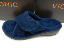 VIONIC WOMENS SLIPPERS RELAX NAVY SIZE 9