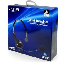 414ac3be20a Official PlayStation 3 4 Chat Headset PS3 PS4 Gaming Headphones USB Windows  PC