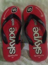 skype Flip Flops Quality Fit Size UK 10