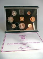 More details for 1984 royal mint proof coin set, (8 coins)..