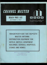 Channel Master 1967 Commercial Distribution Equipment TV FM Dealer Price List