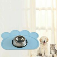 US Pet Food Silicone Feeding Mat Bowl Non-Toxic Dogs Waterproof Non-slip 40x30