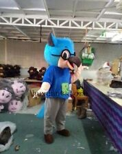 Adult Lovely Quality Professional Blue Owl Mascot Costume Christmas Fancy Dress