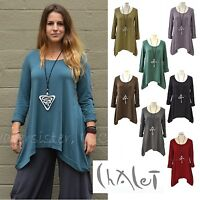CHALET USA Bamboo Jersey TAMMY TUNIC Flare Banded Hem Top XS S M L XL FALL 2016