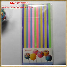 """Heavy duty - 5 colors mixed 25pcs 6"""" (15cm) Acrylic Colored Sticks For Cake Pops"""
