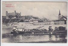 AK Bratislava, Pressburg, Teilansicht, Frachtschiff, 1910