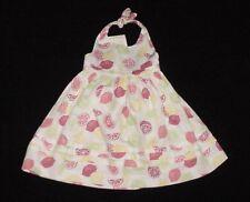 NWT Janie & Jack Girls CITRUS BREEZE Lime Lemon Fruit Halter Dress 18-24 M