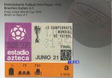 Fußball Weltmeisterschaft 1970 + WM Final Ticket + Orig. Repro Postkarten Serie