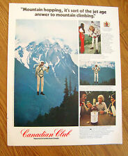 1972 Canadian Club Whiskey Ad Mountain Hopping Cheakamus Tantaius BC
