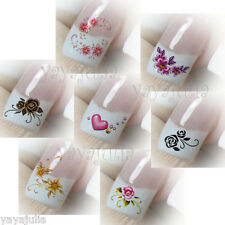 7 Sheets of Nail Art Fashion Water Slide Temporary Tattoos Stickers Lot