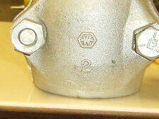 "2"" High Pressure Steam Hose Coupling/Clamp, Hose OD min 2-5/8"" max 2-13/16"""