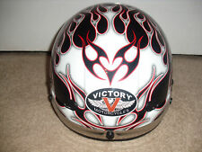 LICENSED VICTORY MOTORCYCLE HELMENT DEVIL FLAME SHORTIE