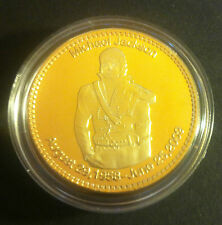 """1 oz Michael Jackson """"The King Of Pop"""" Memorial Finished with 999 24k Gold"""
