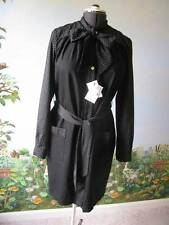 Love Moschino Dress Black Long Sleeve Dress Pearl Buttons Size 10 New