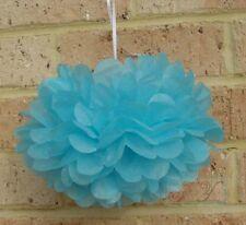 6x blue tissue paper pom poms wedding birthday party baby shower home decoration