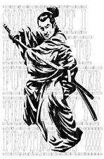 60x39cm Samurai Ninja Warrior Honda civic Toyota MR2 supra graphic sticker vinyl