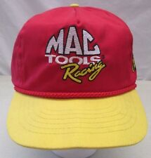 Vintage Snapback Trucker Hat Cap MAC Tools Racing Ernie #28 Irvin Nascar USA Red