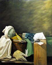STEFANO MANZOTTI - A.MARAT (OMAGGIO A DAVID) OLIO SU TELA 80x100 2008