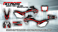 Honda CRF 450R 2013 - 2016 250R 2014 - 2017 Graphics Kit Decals Design Stickers