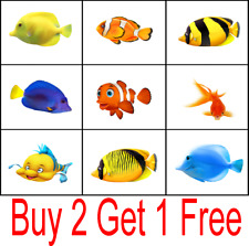 12 x Bathroom Tropical Aquarium Kitchen Tiles Sticker Fish Stickers 12 IN A PACK