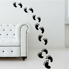 Family Footprints Wall Floor Decal Vinyl Art Sticker Mural Removable Home Decor