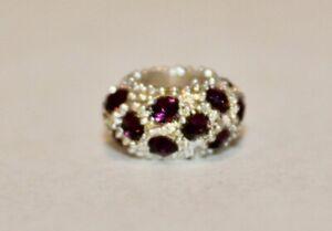 Rhinestone Birthstone Bead - Fits European Charm Bracelets-Choice Month Color