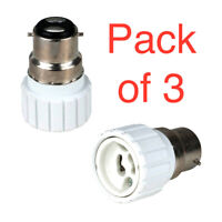 3 x Bayonet BC B22 To GU10 Light Bulb Base Socket Adaptor Lamp Converter Holder