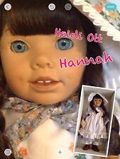 """Heidi Ott 19"""" Doll HANNAH BEST FRIENDS- NRFB - Brunette Doll Dressed !"""
