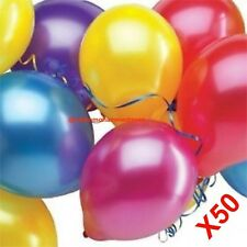 Latex Balloons Mix Colour Pack Of 50 Birthday Wedding Decoration