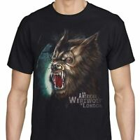 American Werewolf In London T Shirt Horror Vintage Wolfman Roar Men's Black Tee
