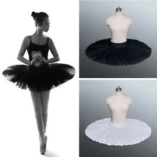 UK Lady Girl Black White Danceware Ballet Practise Pancake Plateau Tutu Skirt D1