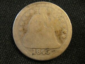 1845 0 SEATED LIBERTY DIME  BK4