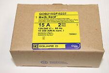 Square D QOB215GFI5237 15A 120-240VAC 2-Pole Circuit Breaker with Qwik-Gard