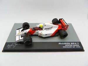 Mclaren Honda MP4/7 Ayrton Senna #1 Germany Gp 1992 1/43 IXO Atlas F1 1