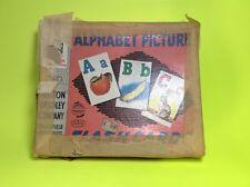 Children's Alphabet Picture Flash Cards Color 1957 Milton Bradley Teacher School