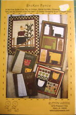 "Button Weeds ""Broken Fence"" Collection of Whimsical Farm Animals Quilt Pattern"