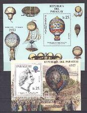 Luftfahrt, Ballone, Montgolfier - Paraguay - Bl.385-386 ** MNH
