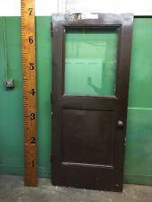 Steel Metal Factory Door with 1/2 Lite Glass 35-3/4x83-1/2 Heavy Industrial