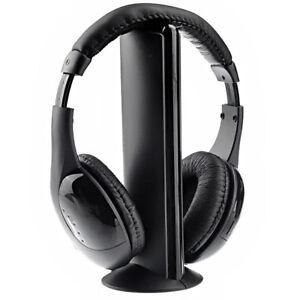 3.5MM Cascos auriculares inalambricos con radio FM 5 en 1 para TV /PC /MP3 /CD