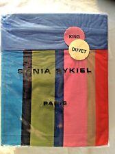 Sonia Rykiel-Paris-King Duvet Cover- Rue De Nevers-100% Cotton-New w/tags-