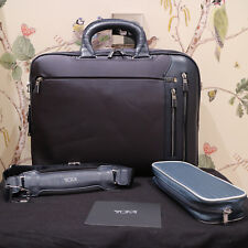 Tumi Arrive Narita Slim in Navy Laptop Case Briefcase New