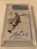 LONZO BALL PANINI ENCASED 2017-18 NOTABLE SIGNATURES /99 AUTO BGS 9.0 LAKERS RC