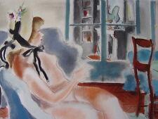 """DIGNIMONT / LITHOGRAPHIE signée """" Dans l'atelier """"  38x28 1946 Curiosa"""