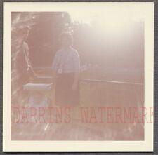Unusual Vintage Color Photo Woman w/ Camera & Sunshine in Lense Flare 704116