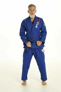 Navy Blue Bjj Gi- Men's Preshrunk Jiu-Jitsu Gi with Free Belt and Bag| Bravo